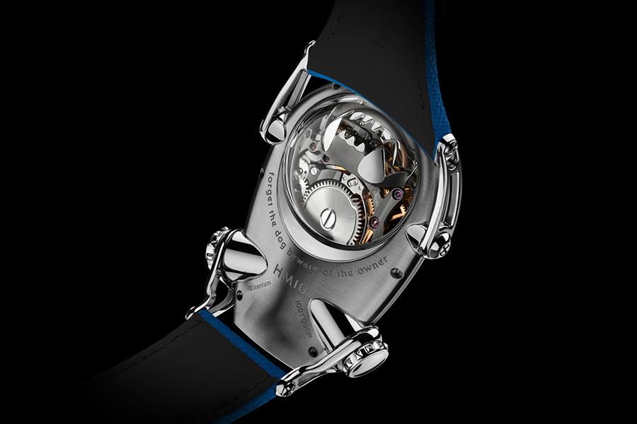 MB & F HM10 Bulldog Rückansicht Uhr