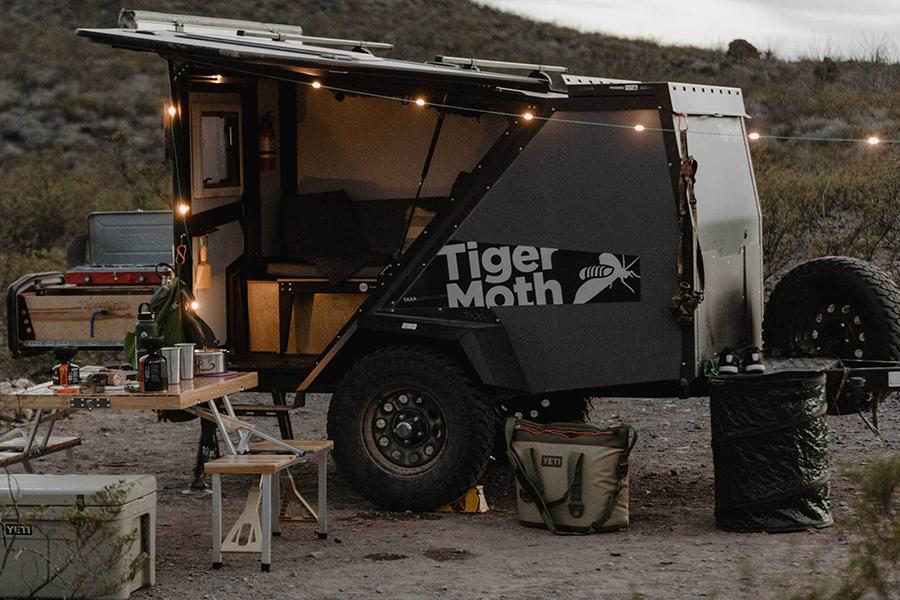 Tiger Moth Camper reisen