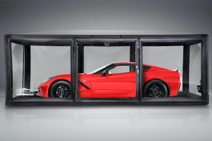 CarCapsule Vehicle Showcase versetzt Ihr Auto in eine Schutzblase