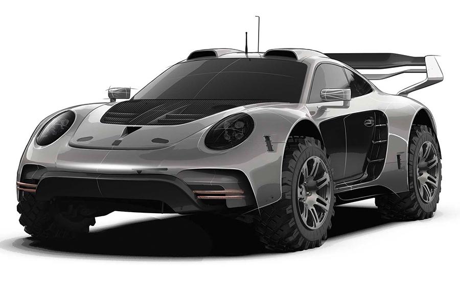 Das neue Porsche 911 Body Kit von Gemballa ist für einen robusten Offroad-Krieger geeignet
