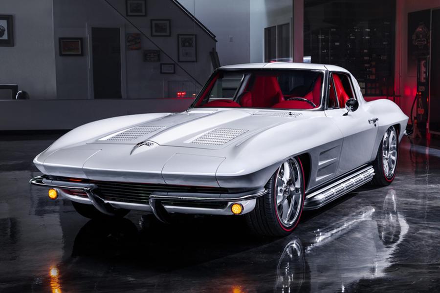 Modifiziertes 1963 Chevrolet Corvette Split-Window Coupé geht unter den Hammer