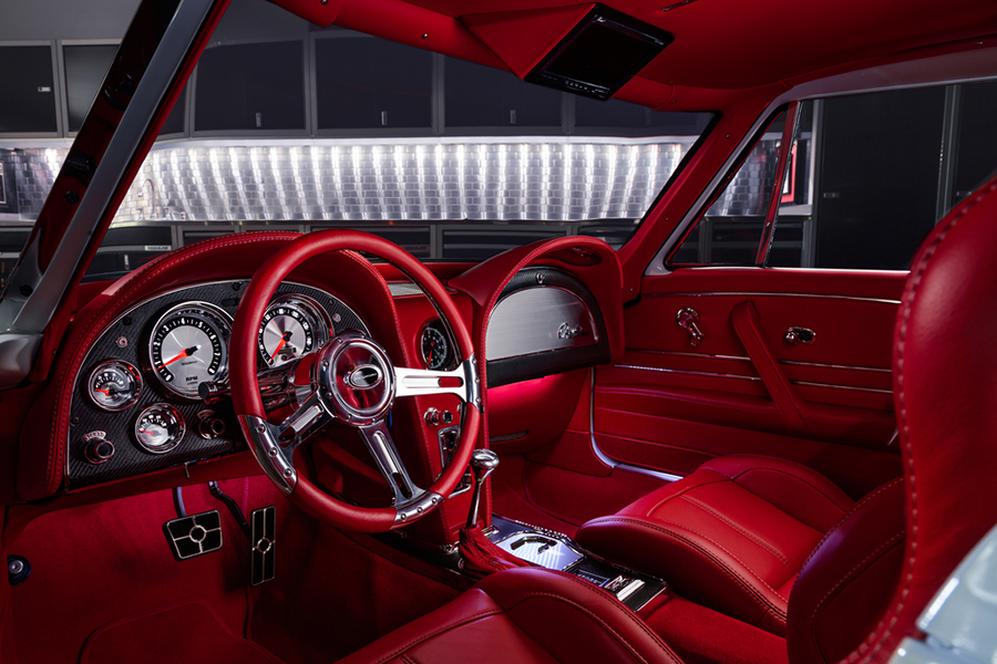 1963 Chevrolet Corvette Custom Fahrzeug Armaturenbrett und Lenkrad