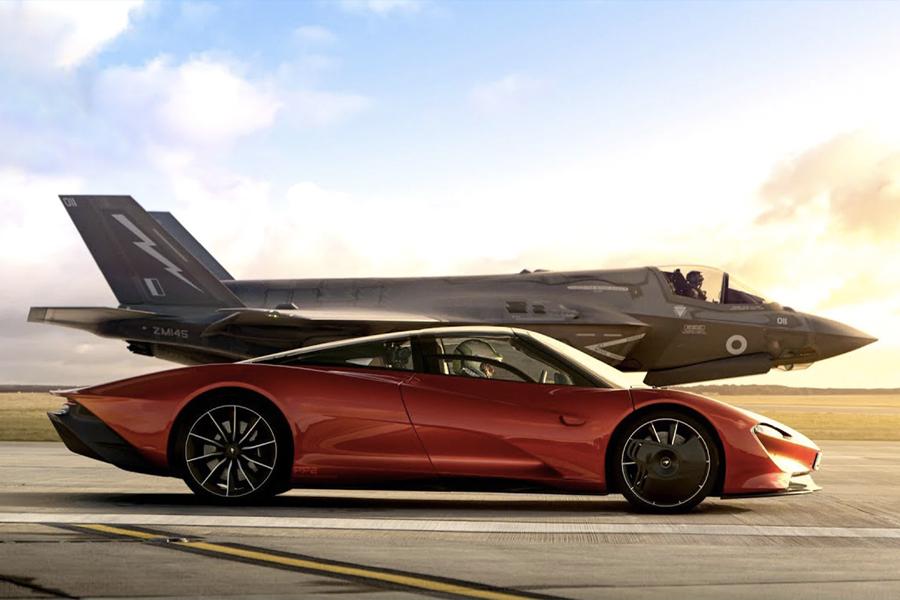 Sehen Sie, wie dieser McLaren Speedtail gegen den F-35 Fighter Jet antritt