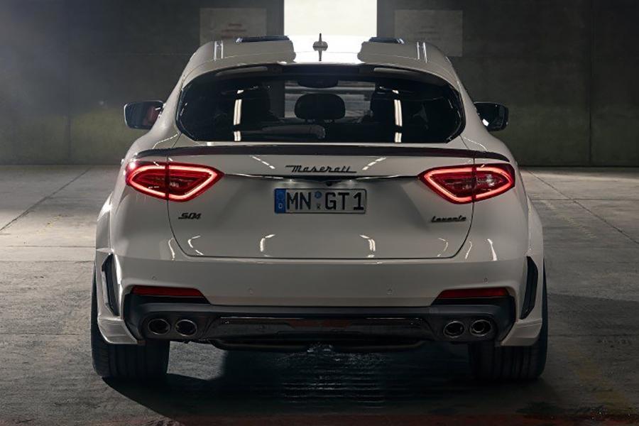 Rückansicht des SUV ESTESO Maserati Levante von NOVITEC