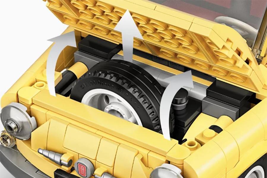 Lego Fiat 500 Radraum