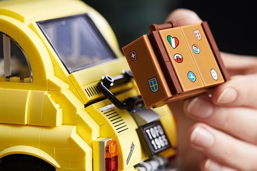 Lego Fiat 500 Tragetaschenaufsatz hinten