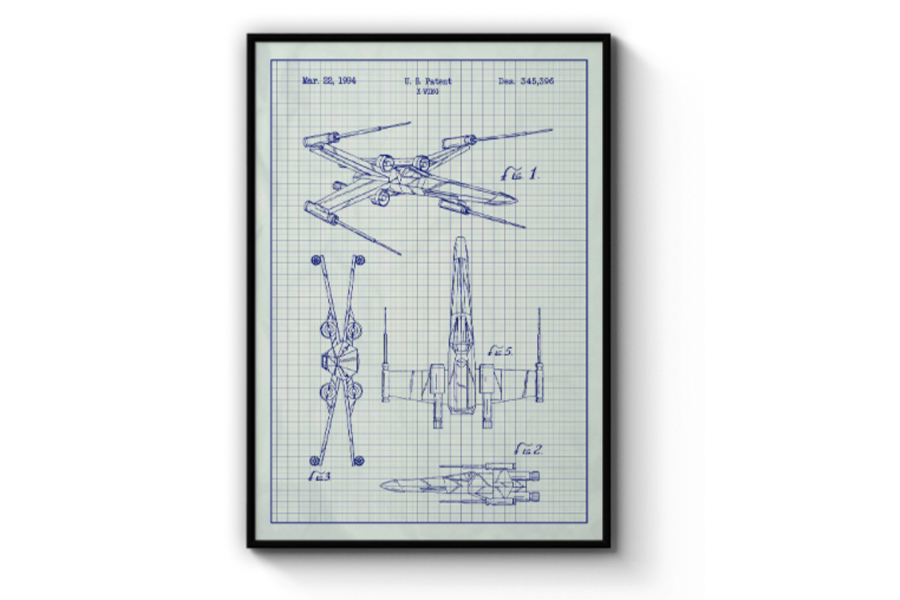 Star Wars X-Wing Fighter Blueprint