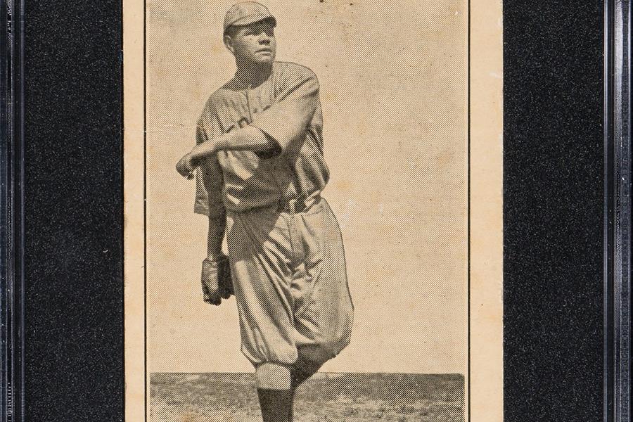 Seltene Babe Ruth Ty Cobb Rookie Elite Karten Auktion online