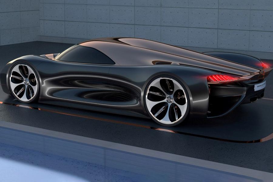 Koenigsegg Konigsei Konzeptauto auf der Straße