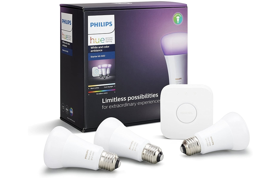 Philips Hue White und Color Ambiance Smart Bulb Starter Kit