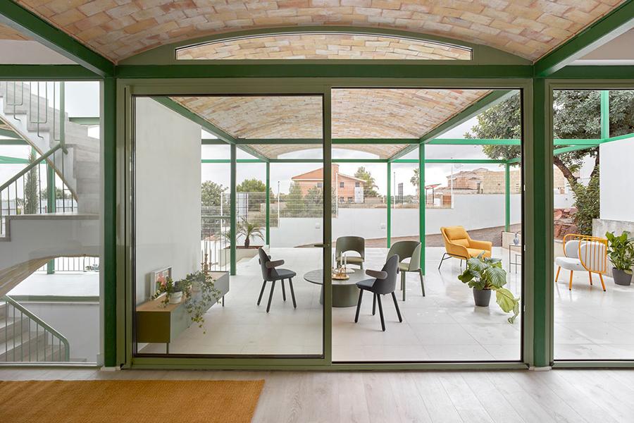Backsteingewölbe Haus Design