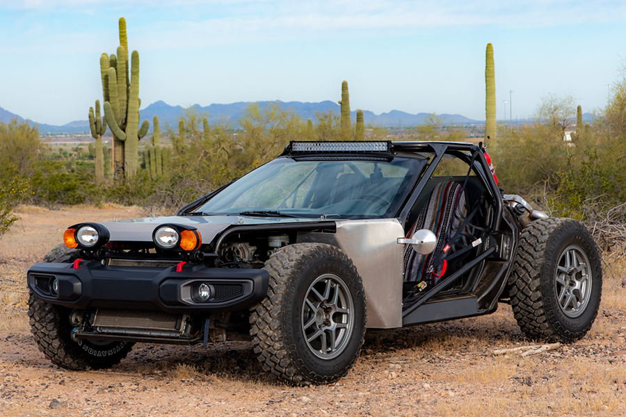 Dieser Buggy ist eigentlich eine 1999 Chevrolet Corvette
