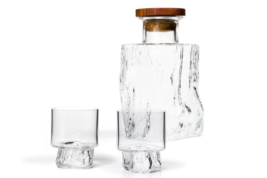 Vicara mundgeblasenes Karaffen- und Whiskyglasset