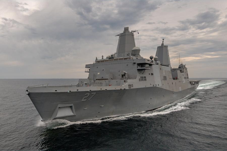 USS Portland Laser 2
