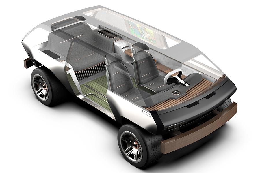 Brubaker Box im Inneren des Minivans
