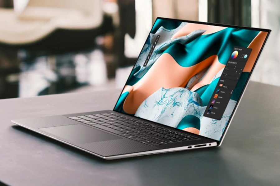 Neuer Dell New XPS 15 und 17 Seitenansicht-Laptop