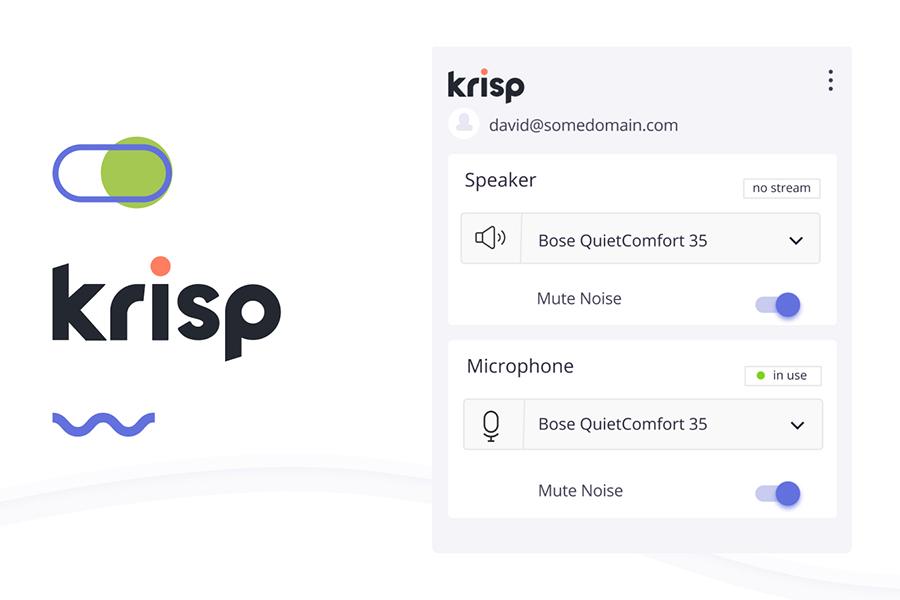 KRISP schaltet Hintergrundgeräusche bei Online-Anrufen stumm