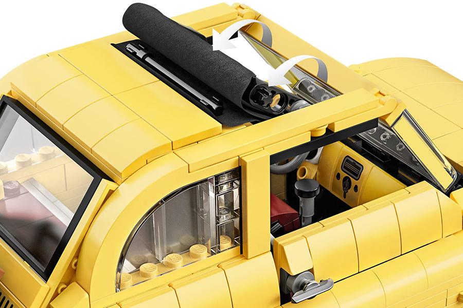 Lego Fiat 500 Draufsicht