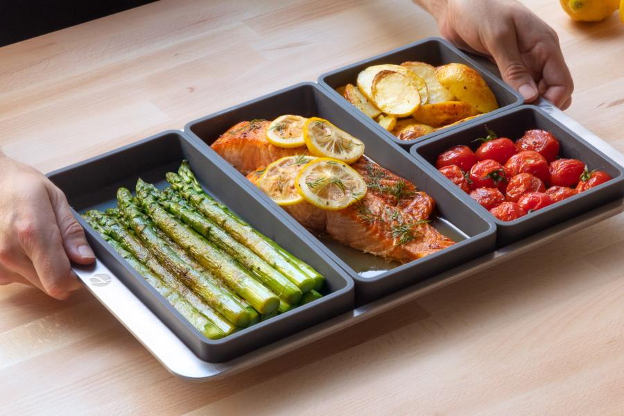 Mit dem Spickzettel-Pan-Cooker-System können Sie Ihre Mahlzeiten einfacher als je zuvor zubereiten