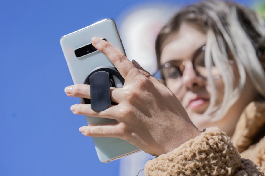 ohsnap Smartphone Griff auf Kickstarter