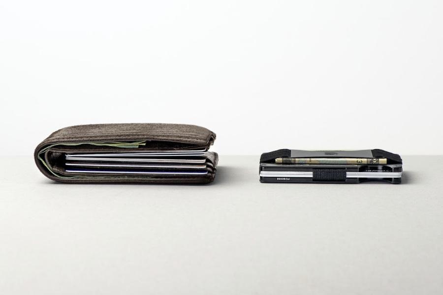 Brieftaschengrößenvergleich