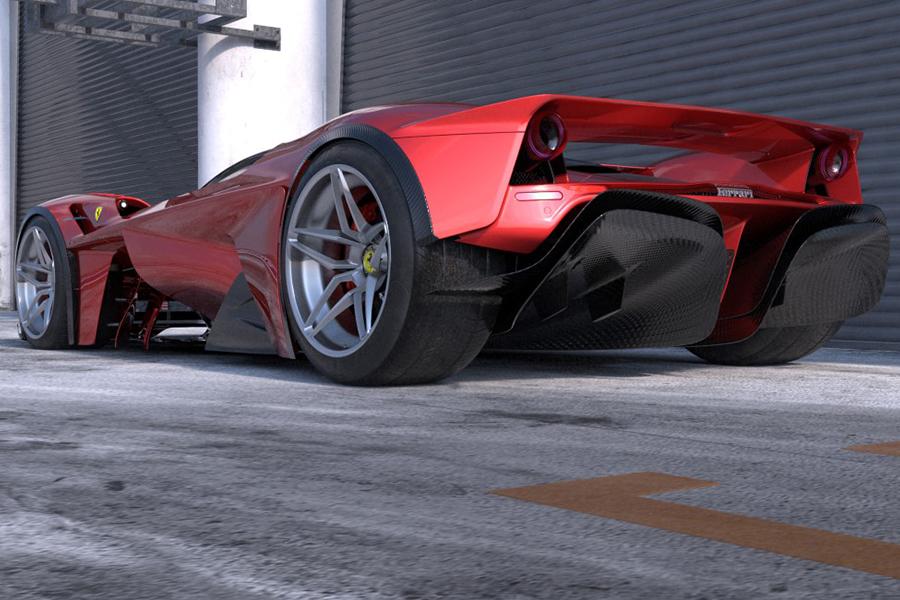 Ferrari F399 Konzept Rückansicht
