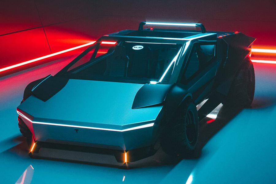 Tesla Cybertruck Neugestaltung des Fahrzeugs