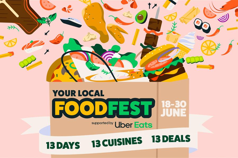 "Uber Eats startet ""Food Fest"" mit dreizehn Tagen Deals"