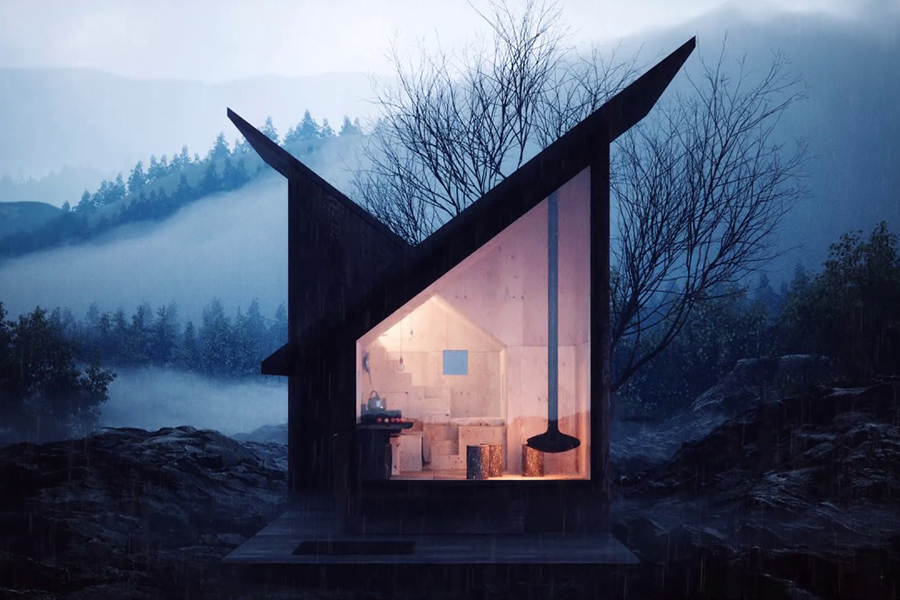 The Mountain Refuge Cabin Concept Requires a Helicopter