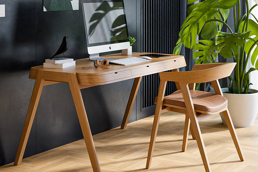 Shelter Desk mit Computer