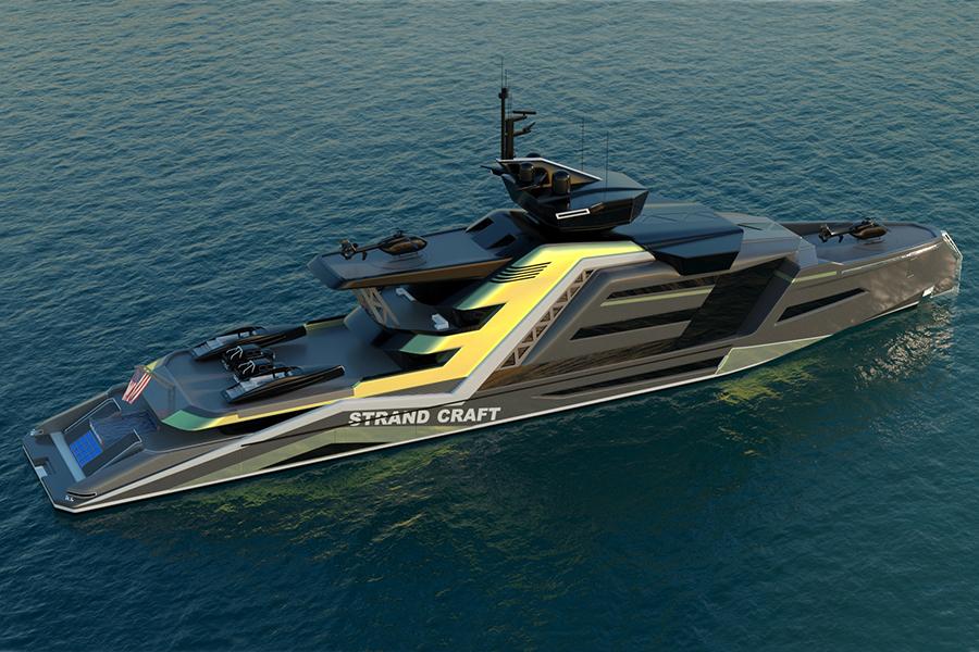 133 Meter Miami Concept Yacht Draufsicht