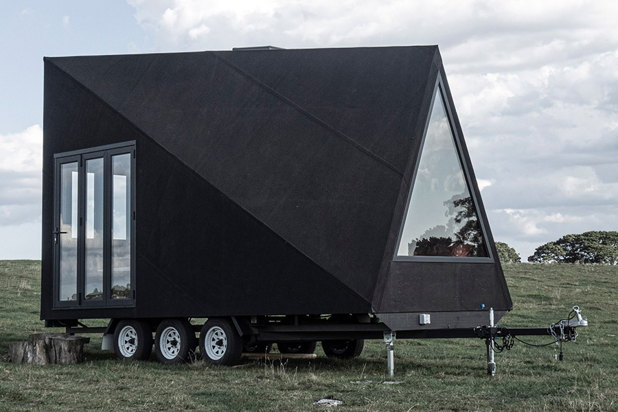 Base Cabin Brings Together A-Frames and Airstream