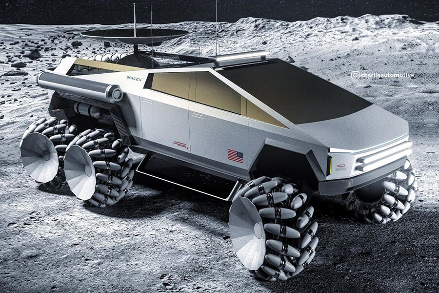 Könnte der Cybertruck das offizielle Auto des Mondes sein?