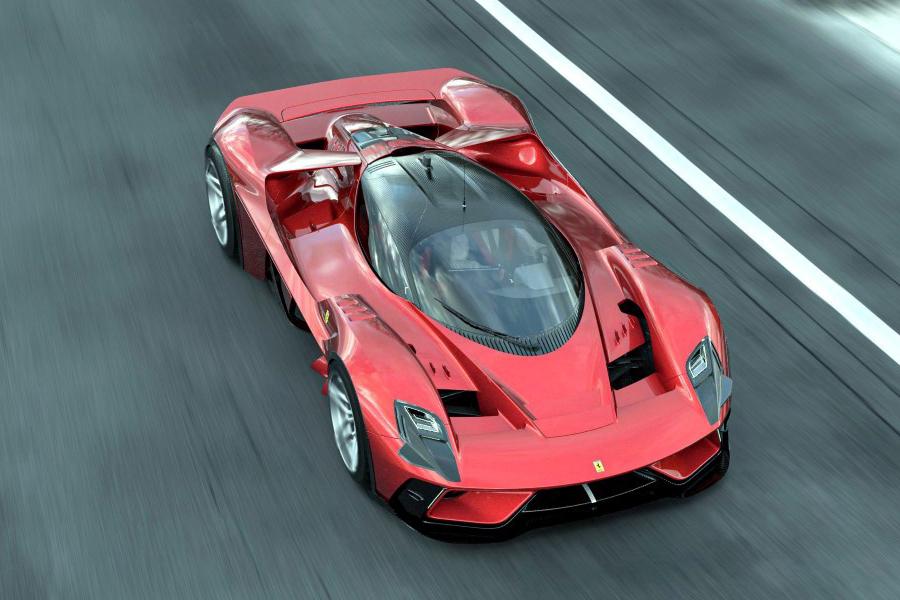 Ferrari F399 Concept Draufsicht Fahrzeug