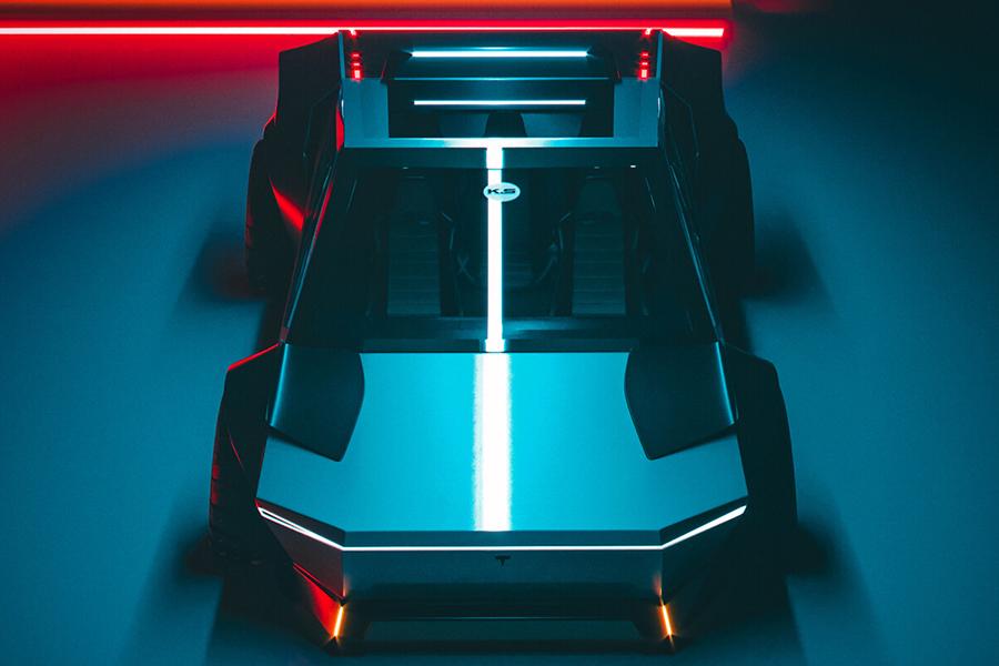 Tesla Cybertruck Neugestaltung der Draufsicht