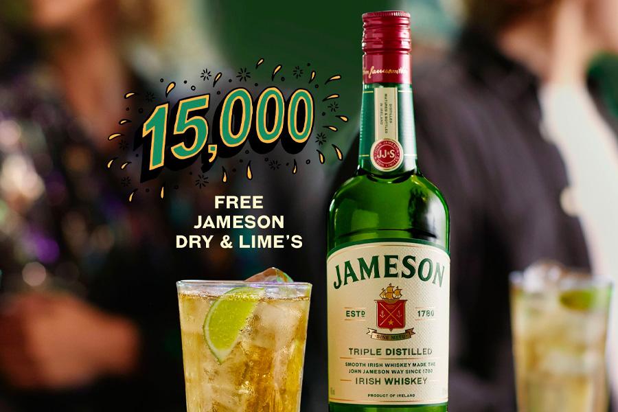 Jameson verlost 15.000 kostenlose Getränke in Australiens größter Runde 2.0