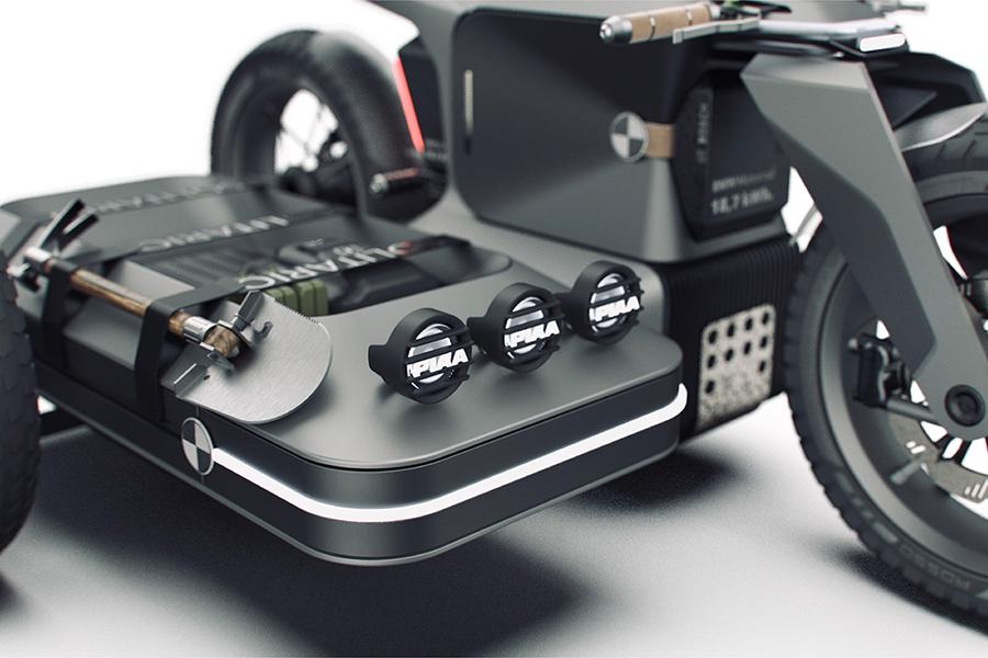 BMW Motorrad x ESMC Offroad Adventure E-Motorrad Hintergrundbeleuchtung