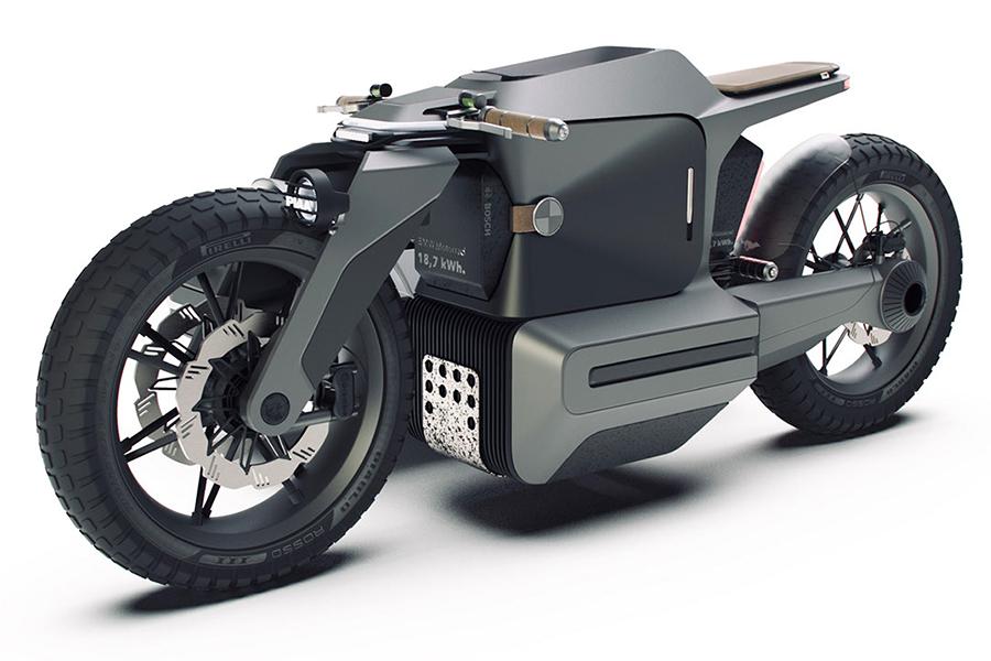 BMW Motorrad x ESMC Offroad Adventure E-Motorrad Seitenansicht
