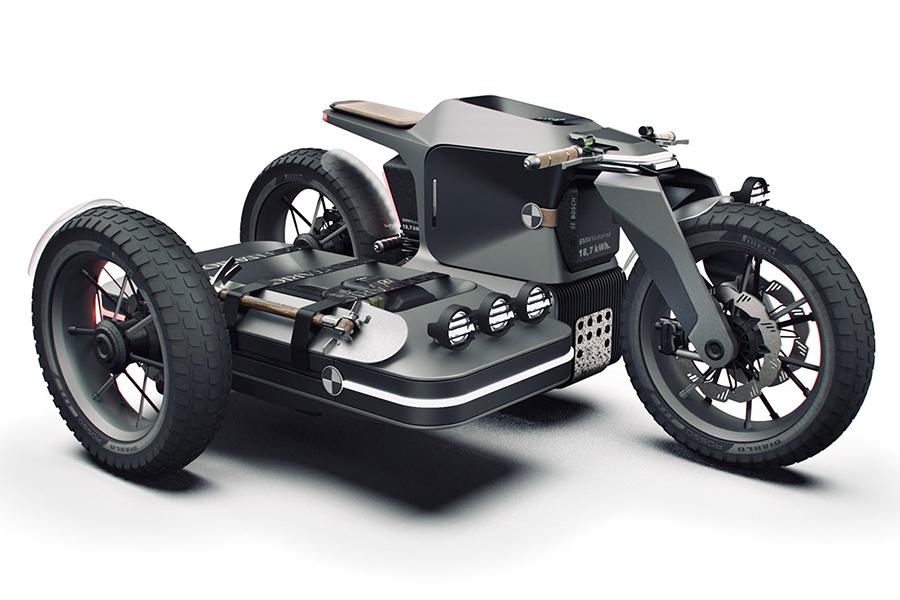 Adventure E-Motorrad-Konzept Kombiniert BMW und ESMC