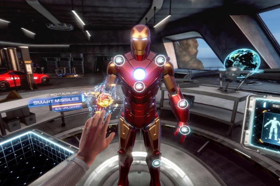 Iron Man vr Spielbildschirm
