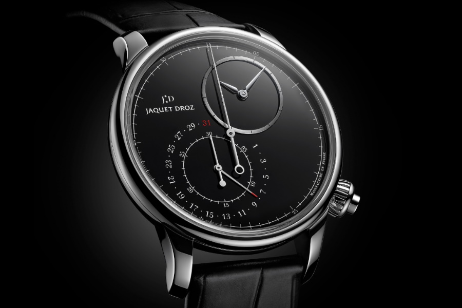 Jaquet Droz Grande Seconde Exzentrischer Chronograph Goes Onyx