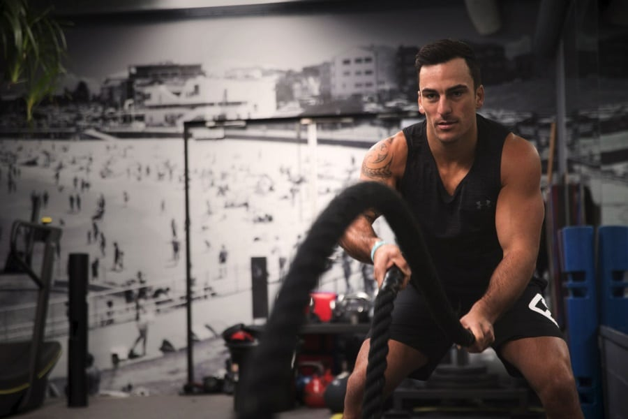Krafttraining der Esquared Fitness App