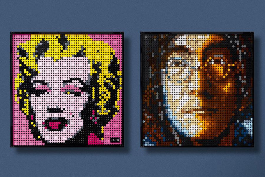 Lego hat eine neue Linie baubarer Pop-Art