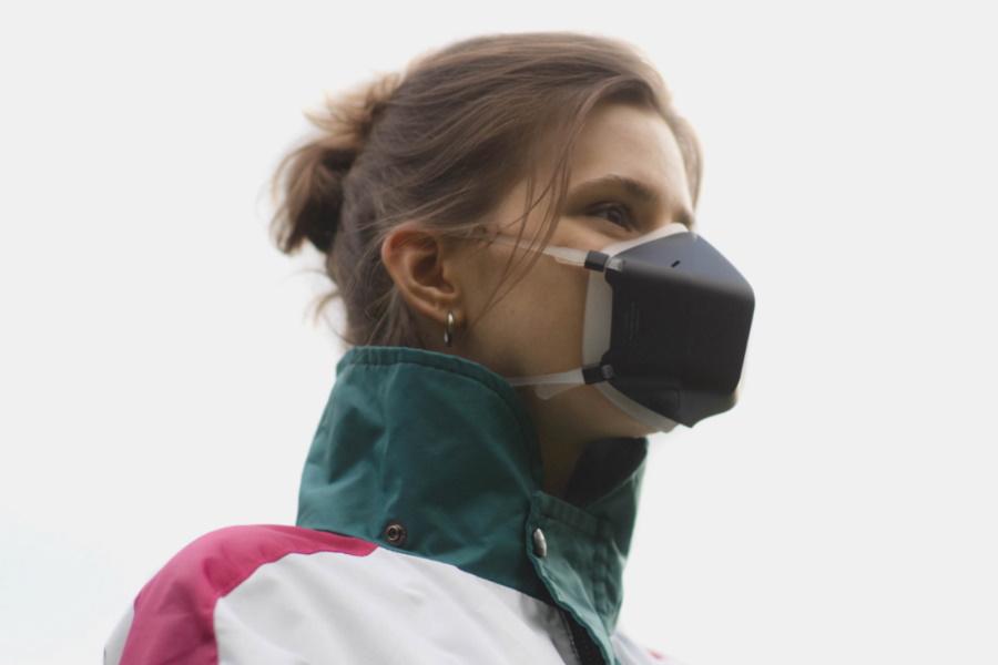 aktive Luftreinigungsmaske
