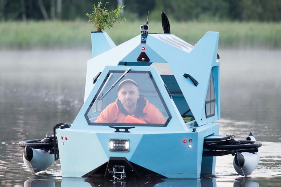 Z-Triton Hausboot-Trike Front
