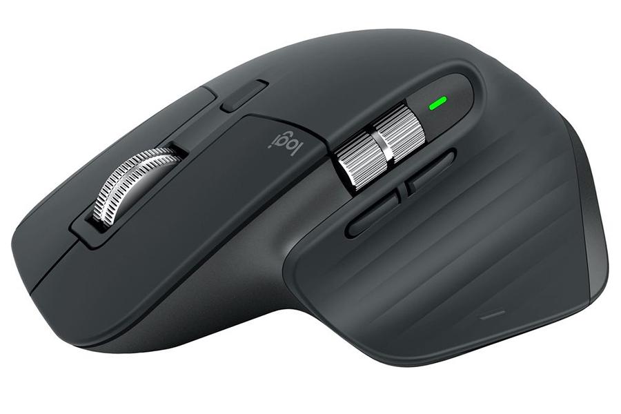 Logitech MX Master 3 und MX Keys für Mac Mausseitenansicht