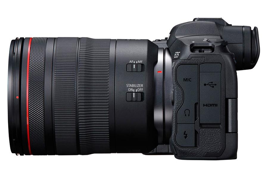 Canon spiegellose EOS R5 Seitenansicht