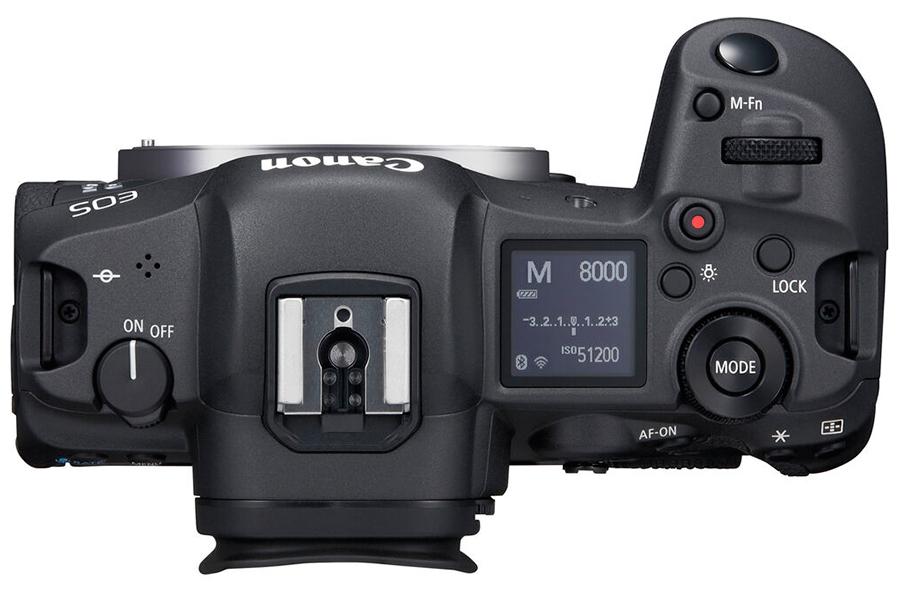 Canon spiegellose EOS R5 Draufsicht