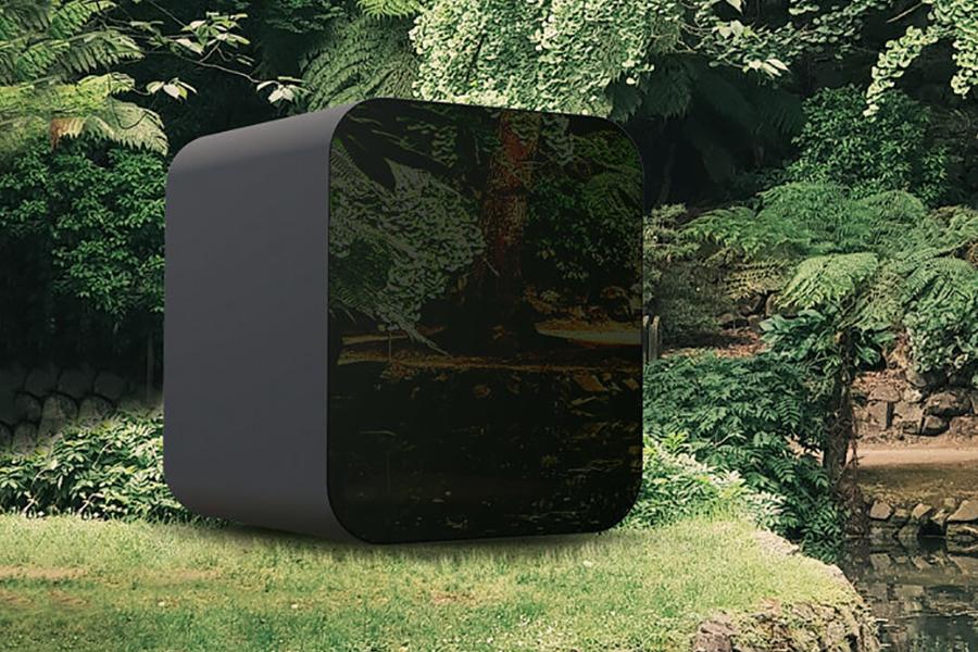 Livit Study Pod in the backyard