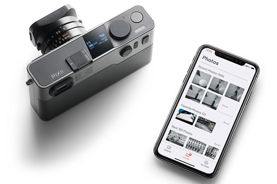 APS-C Entfernungsmesserkamera mit Handy
